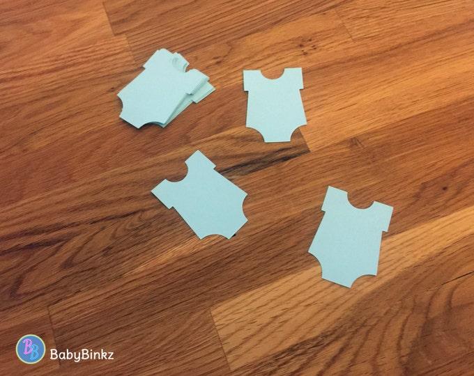 Die Cut Blue Bodysuit (25+) - photo prop party decoration punch cutout card stock baby infant