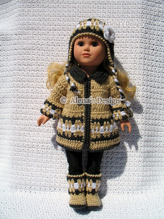 Crochet Pattern Mickey Mouse Doll : 18 inch Doll Clothes Crochet Pattern 3 PC Set for 18 in Doll