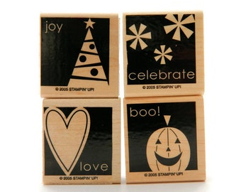 Stampin' Up Rubber Stamps - Say It Simply- Holiday Stamp Set