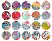 Art Journaling Mixed Media Stickers 1 - Round