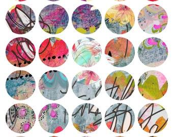 Art Journaling Mixed Media Stickers 1 - Round