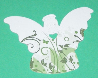 Angel Magnet - NOT a soda can - Glitter, Ink, Cardstock