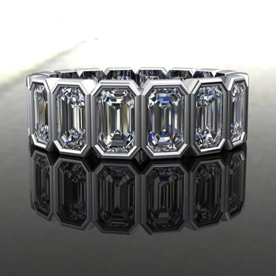 confetti eternity ring emerald cut forever by