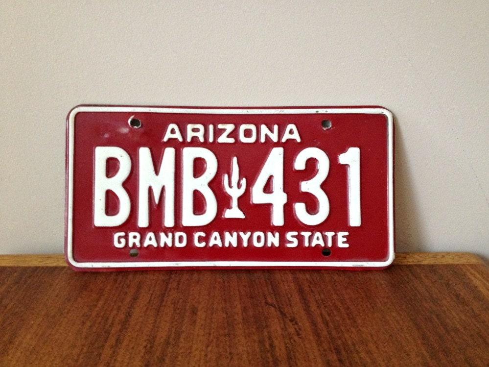 Az Car Registration: Vintage Arizona License Plate Car Tag 1980s By