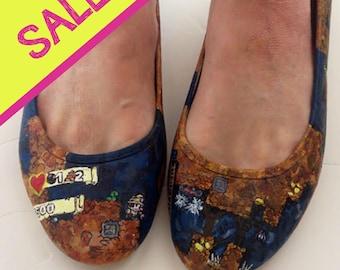 Spelunky video game shoes - ladies UK 7 / US 9.5