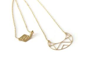 Collier Polygones doré à l'or fin