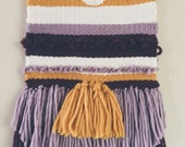 Woven Tapestry / Sunset / Hand Woven Wall Hanging