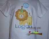 Birthday Number Lion Top Size 12M-18M, 2T-5T