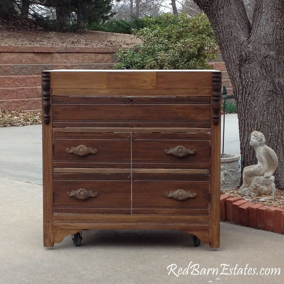 Old Kitchen Sink CABINET We Custom Convert From An Antique Dresser For