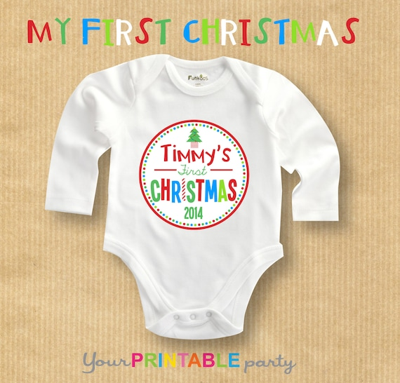 My First Christmas Tshirt / Onesie transfer by ...