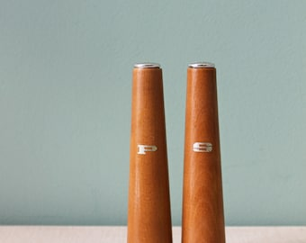 Mid-Century Salt and Pepper Shakers, Wood Shakers