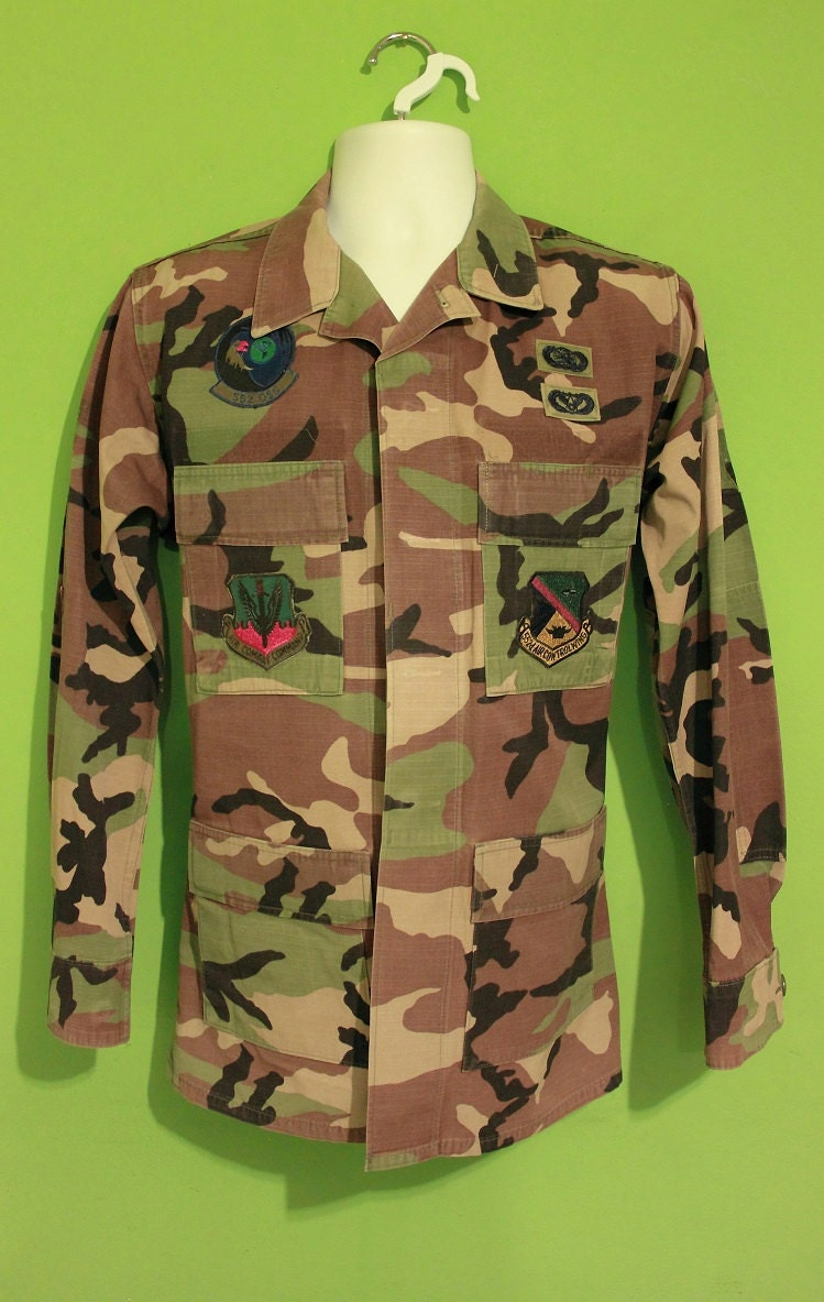 vintage 90s 80s mens army jacket shirt large clothing