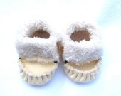 Lemon Yellow, Totmocs  Baby Moccasins, soft soled shoes, crib shoes, slippers