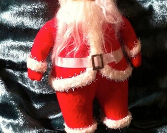 Vintage Santa Claus, 11 1/2 Inches, Molded Face, Very Good Vintage Condition, 1940s