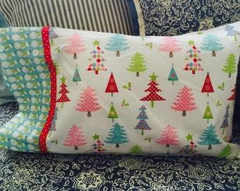 Small throw Christmas Winter Wonderland Pillowcase- Kids Pillowcase- Pillowcase for 12x16 form