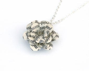 Book Necklace Bridesmaid Gift, Bridesmaid necklace, Spring Wedding, Book Wedding, Flower Girl 20% off 5 or more contact for custom listing