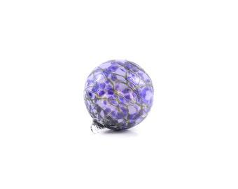 Purple Hand Blown Glass Ornament - Blown Glass Ball - O5