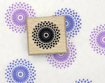 Floral Dot Ornament Rubber Stamp