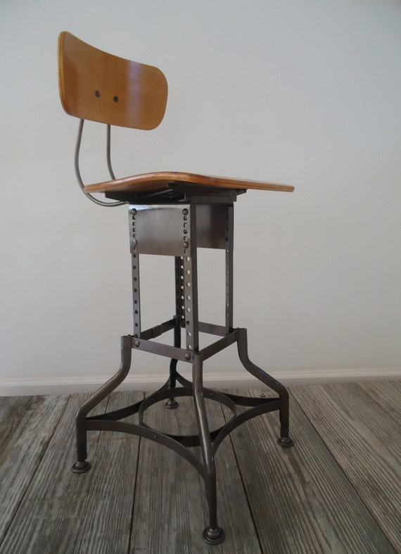 Vintage Toledo Uhl Art Steel Adjustable Height By