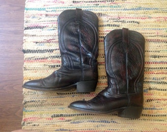 VTG Dan Post burgundy cowboy boots - Men's 9.5 US