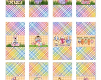 Printable Digital Mini Candy Bar Wrappers For Easter