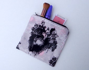 Disney's Villains Bag, Evil Queen, Cruella DeVille, Maleficent,  Zipper Bag, Make Up Bag