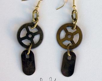 Dangling Earrings // Gear & Tab