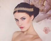 Wedding Bridal Headband, Gold Bridal Headband, Wedding Tiara, Crystal Hair Vine, Gold Crystal Bridal Headband. The Luna Bridal Headband #170