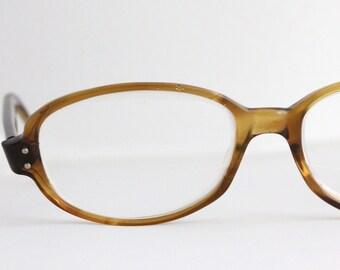 Vintage 60's Oval Tortoise Cat Eyeglass Frames