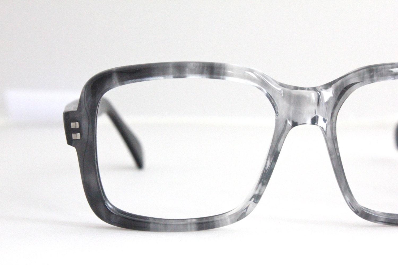 vintage 80 s oversized square gray eyeglass frames by sorocco