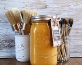 Handmade ChalkFinish Paint, Gold, Honeycomb, Autumn Leaf, Furniture, Painted Furniture, Shabby Chic Furniture, Painted Mason Jars, Waxes