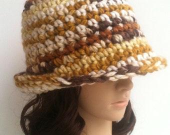 Crochet Cloche.... Crochet Brim Hat.. Crochet Hat... Womens Hat