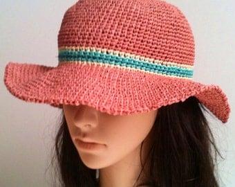 Raffia Summer Hat .... Sun Hat ...... Raffia  Beach Hat