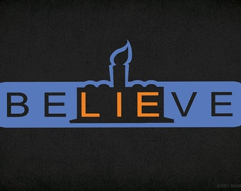 beLIEve - Postcard