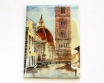 Florence Duomo magnet, Landscape Magnet, Fridge magnet, Kitchen magnet, Magnet, ACEO, stocking stuffer, Italy, Florence (4551)