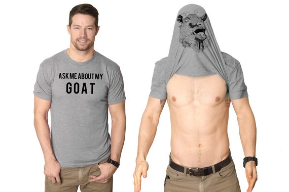 Mens ask me about my goat shirt funny goats t by for T shirts for college guys