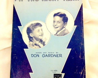 "Vintage Sheet Music  ""All I Want for Christmas is My Two Front Teeth""  1958"