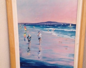 "Vintage Limited Canvas Print Edition "" Summer Fun"" by David Brownstead 20""x16"" signed"