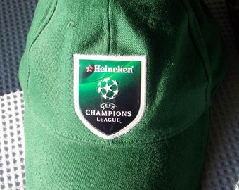 Vintage Green HEINEKEN CHAMPIONS LEAGUE Baseball Cap - Adjustable Size - Velcro Shutter