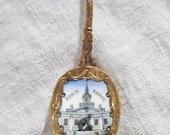 Vintage Souvenir Spoon Pori Finland Yyterin Sannat Gold Tone Collectible Spoon Retro Souvenir Finland