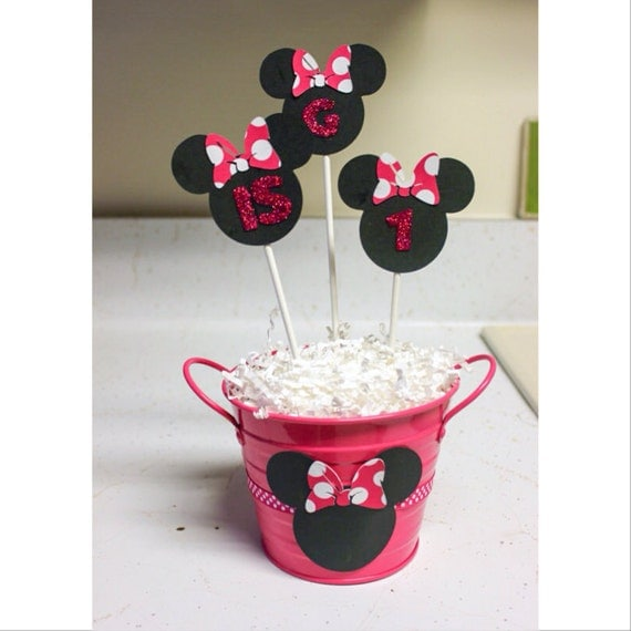 Minnie Mouse Centerpiece Minnie Birthday Party Table - Glitter Home Decor