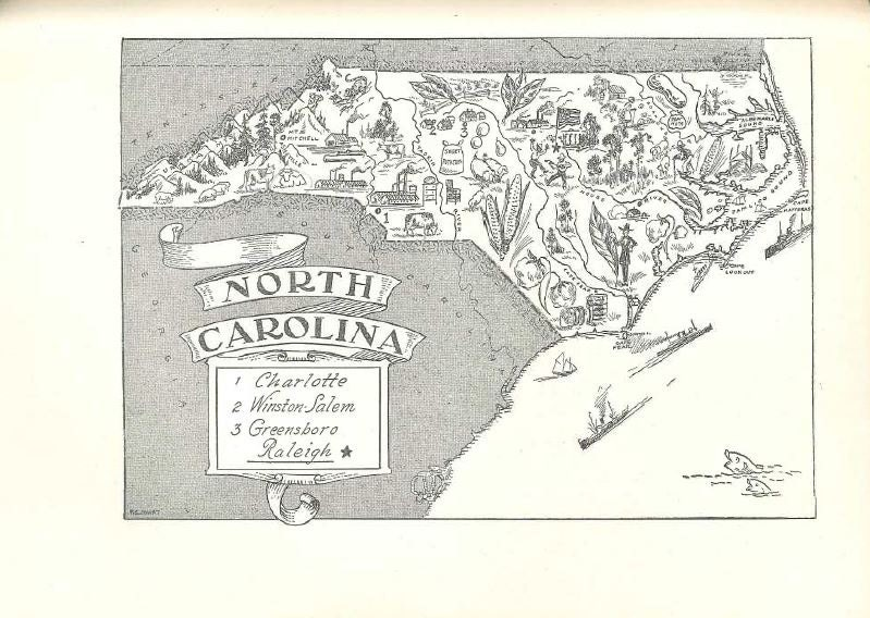 North Carolina Map Print NC State Map Art S Vintage - Full map of north carolina