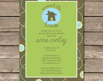 Around the House Shower Invitation (2-sided)