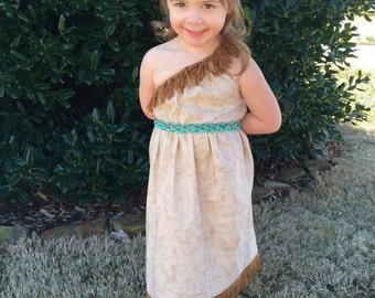 Pocahontas Dress//Hairpiece INCLUDED//Lots of Sizes//Disney Princess
