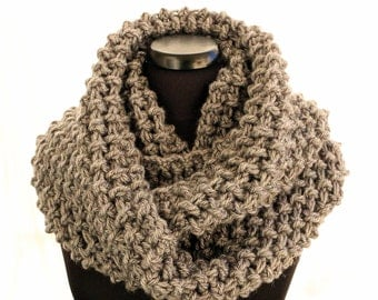 Crochet Scarf PATTERN, Circle Infinity Scarf Unisex, Chunky Scarf DIY Easy Crochet Gift For Him, Instant Download PDF No.152 Lyubava Crochet