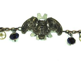 Owl Bracelet  Stempunk Bracelet