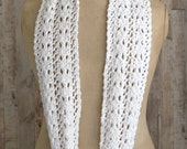 KNITTING PATTERN Simple Lace Scarf easy Knit Infinity Scarf Instant Digital Download Beginner knitting tutorial