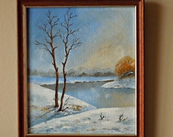 """Original oil painting for sale """"Trees in Early Spring"""", landscape"""