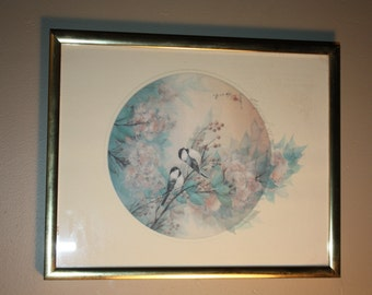 Vintage Limited Edition Numbered John Cheng Signed Print, Framed, Titled the Gathering, Number197/950, Excellent Condition, Ready to Hang