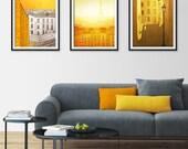 Any THREE Prints - Save 25%,Set of three Illustrations,Giclee Art print Home decor City print Paris decor Travel poster Cityscape City print